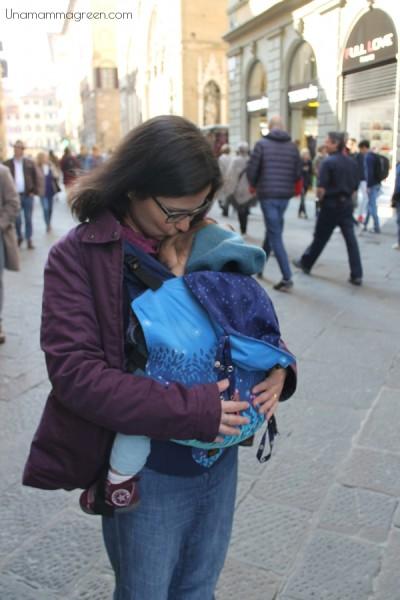 Se visitate Firenze con un bambino piccolo, un marsupio ergonomico è d'obbligo (il mio è un Madame GooGoo)