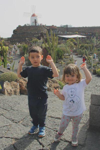 lanzarote bambini cactus