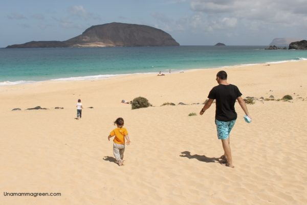isla graciosa playa conchas bambini