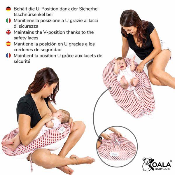 evitare le ragadi al seno cuscino allattamento