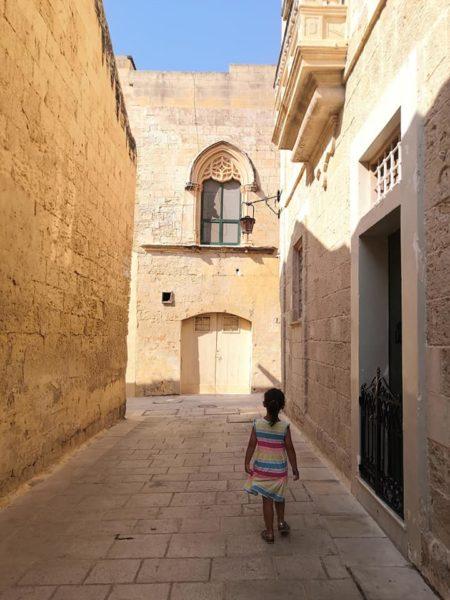 malta con bambini, visita a medina