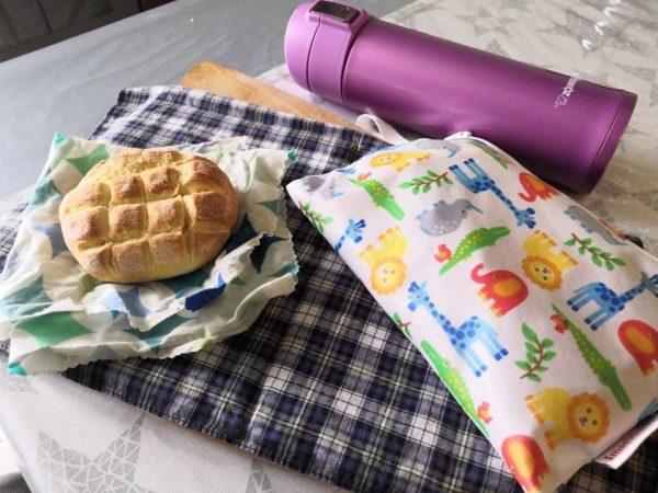 picnic plastic free wet bag e borraccia termica