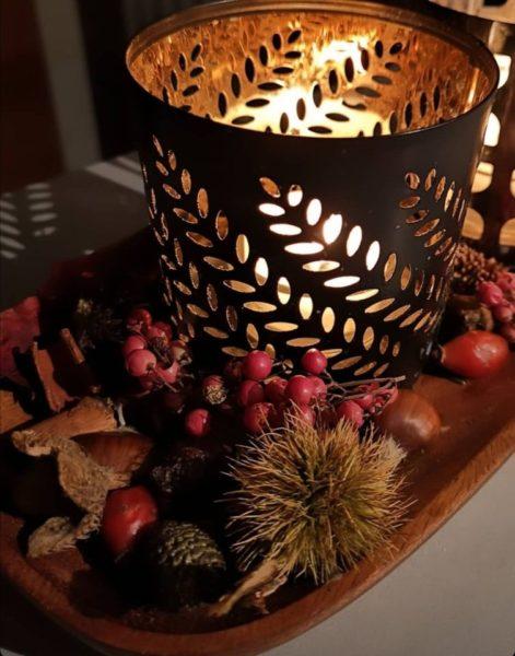 candele per la magia del natale